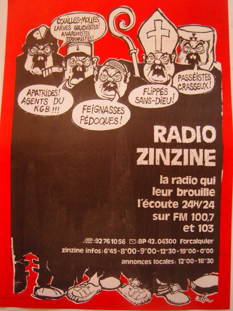 un dessin de Cabu pour Radio zinzine