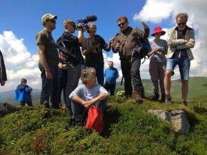 délégation internationale dans le massif de Svydovets