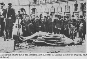 Place Vendôme, Courbet devant Napoléon abattu